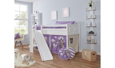 Ticaa Hochbett »Ekki«, mit Rollrost und Textil-Set wahlweise mit Matratze, Buche kaufen