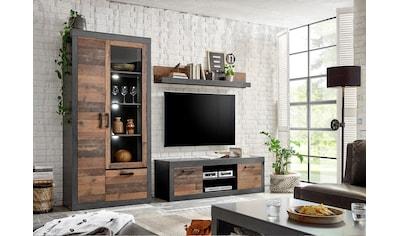 Home affaire Wohnwand »BROOKLYN«, (3 tlg.), in dekorativer Rahmenoptik kaufen