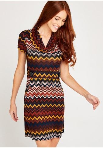 Apricot Strickkleid »Chevron Stripe Epaulette Dress« kaufen
