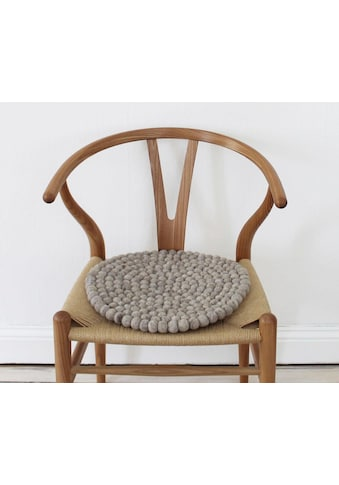 Wooldot Sitzkissen »Uni Color«, rund, Filzkugel-Teppich, reine Wolle, auch als Set... kaufen