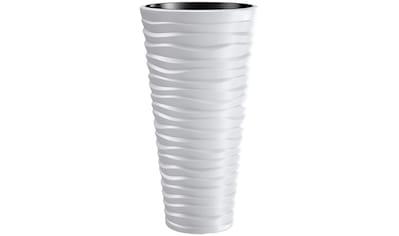 PROSPERPLAST Blumentopf »Sand slim«, weiß, Ø 34,9 kaufen