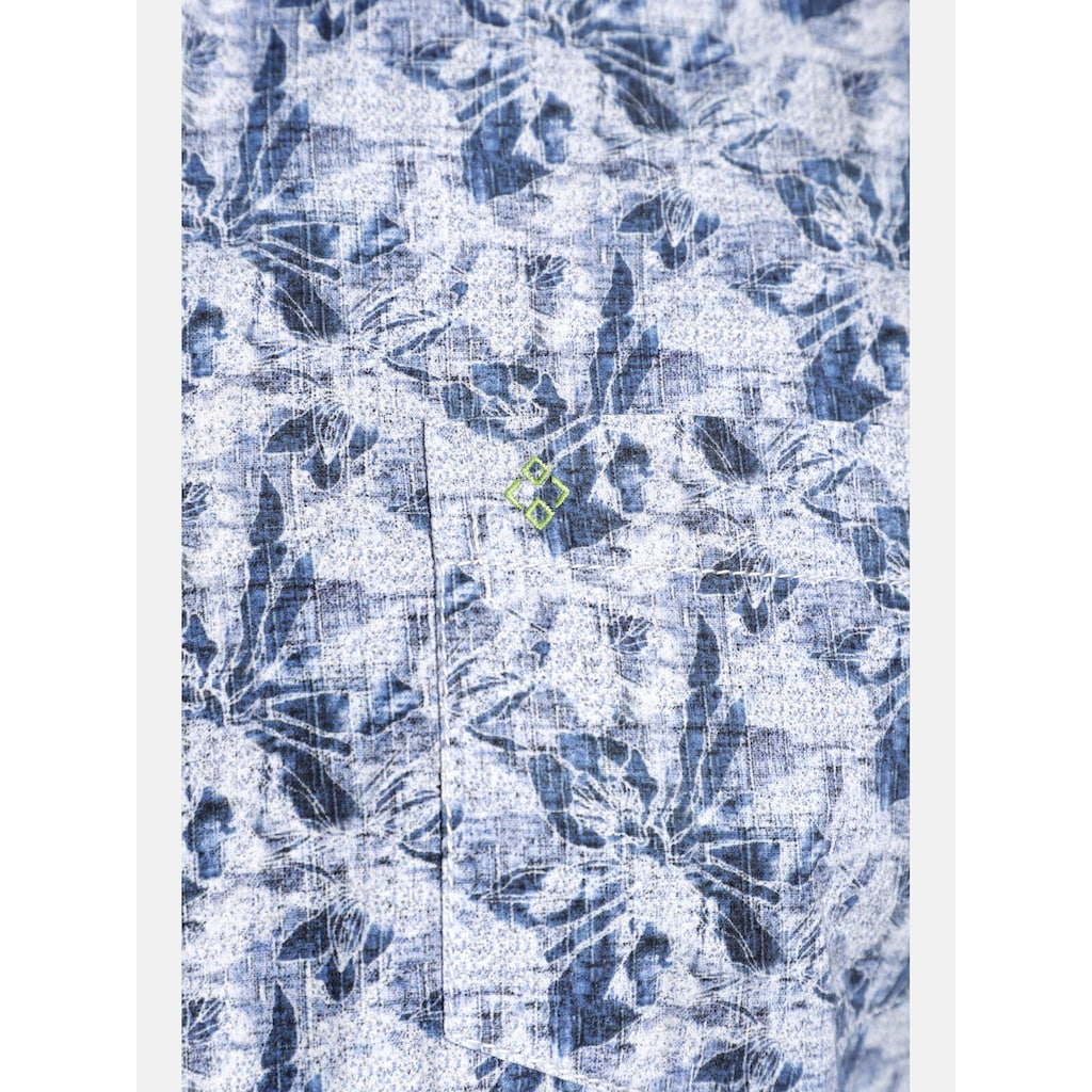 Charles Colby Kurzarmhemd »DUKE TERENCE«, Baumwollhemd mit Blumenprint