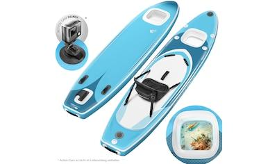 Sportstech Inflatable SUP - Board »WBX_AQUEMINI«, Funboard , (Set, 9 - tlg., mit Paddel, Pumpe, Transportrucksack und Sitz) kaufen
