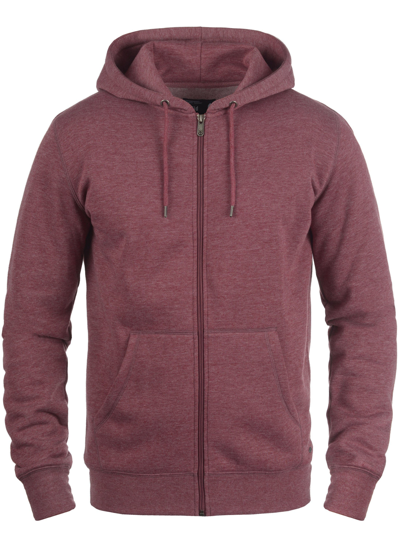 Solid Kapuzensweatjacke BertiZip | Bekleidung > Sweatshirts & -jacken | Rot | Fleece - Metall | Solid