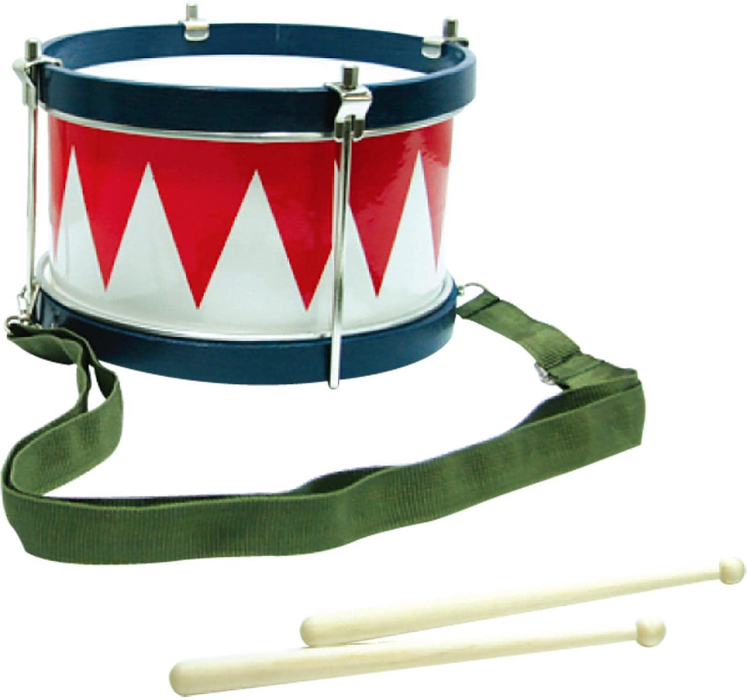 Clifton Spielzeug-Musikinstrument Kindertrommel blau/weiß/rot, mit Kinderlieder CD bunt Musikspielzeug Musikinstrumente