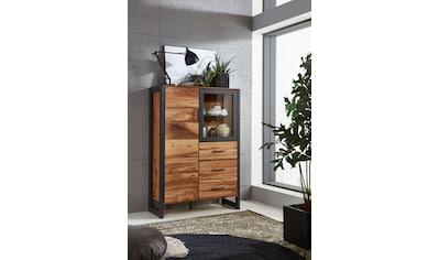 Relita Vitrine »Montana«, mit schön gemasertem Holzfurnier, Industrial Design kaufen