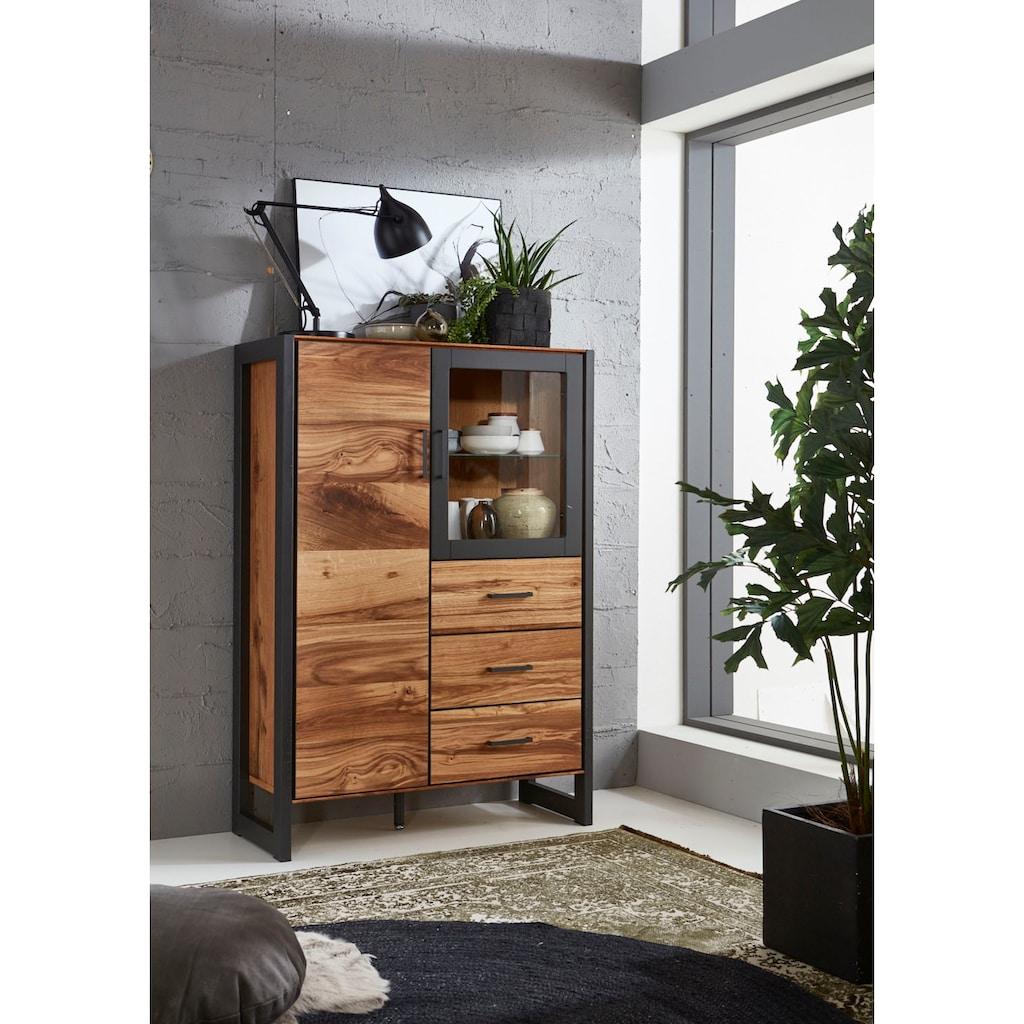 Relita Vitrine »Montana«, mit schön gemasertem Holzfurnier, Industrial Design