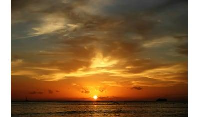 Papermoon Fototapete »Waikiki Beach Oahu«, Vliestapete, hochwertiger Digitaldruck kaufen