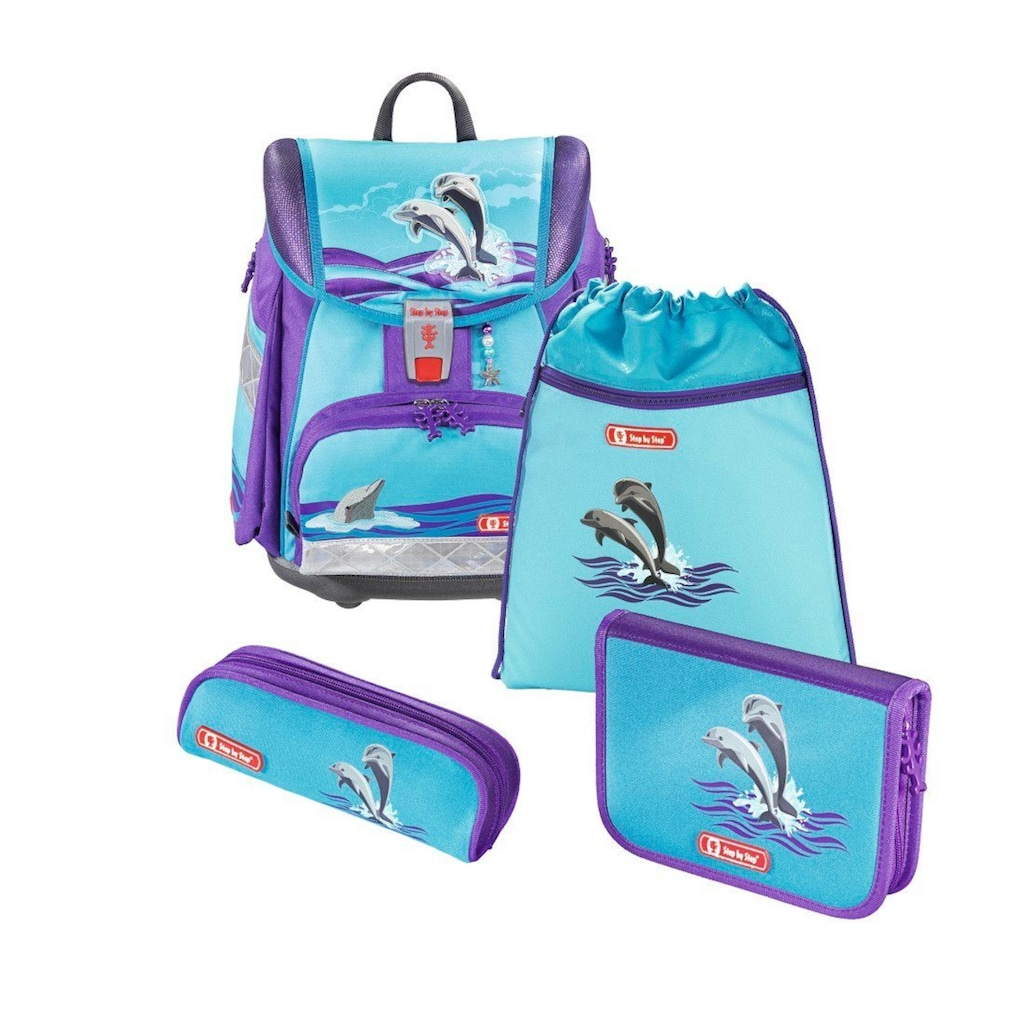 Step by Step Schulranzen Set Mädchen Tornister Set TOUCH 2 »Delfin Happy Dolphins«