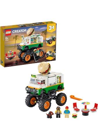 LEGO® Konstruktionsspielsteine »Burger-Monster-Truck (31104), LEGO® Creator 3in1«,... kaufen