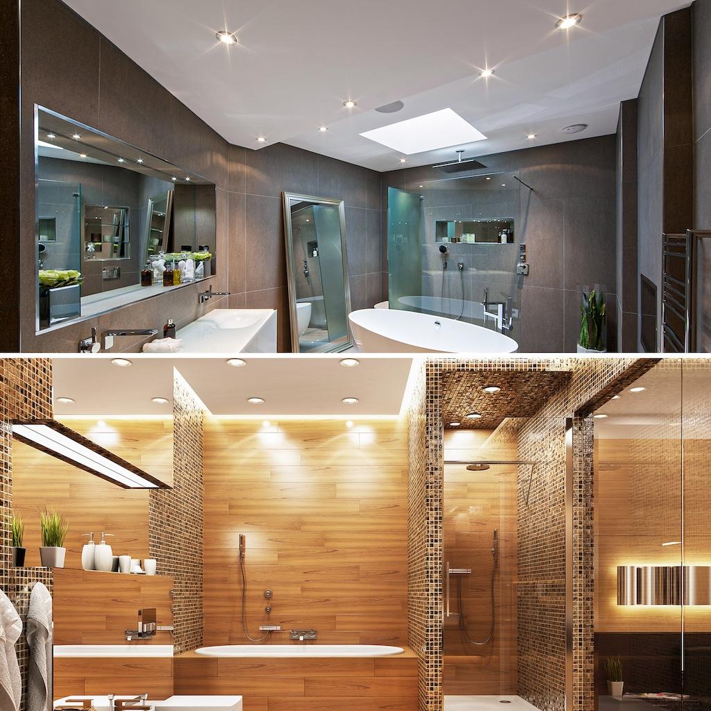 B.K.Licht LED Einbaustrahler, LED-Modul, Warmweiß, LED Einbauspots Bad Strahler Einbauleuchten weiß dimmbar Deckenspots IP44