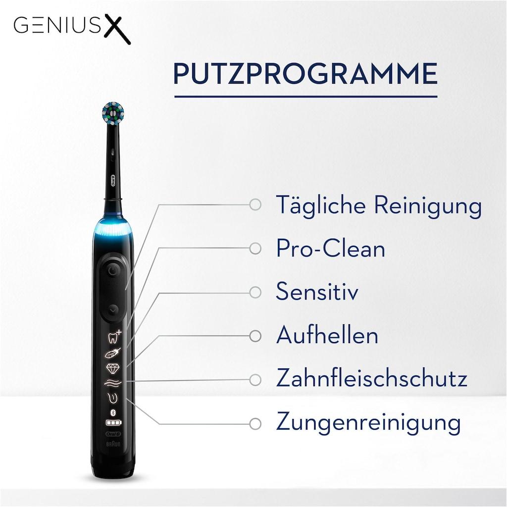 Oral B Elektrische Zahnbürste »Genius X 20000N«, 1 St. Aufsteckbürsten, black