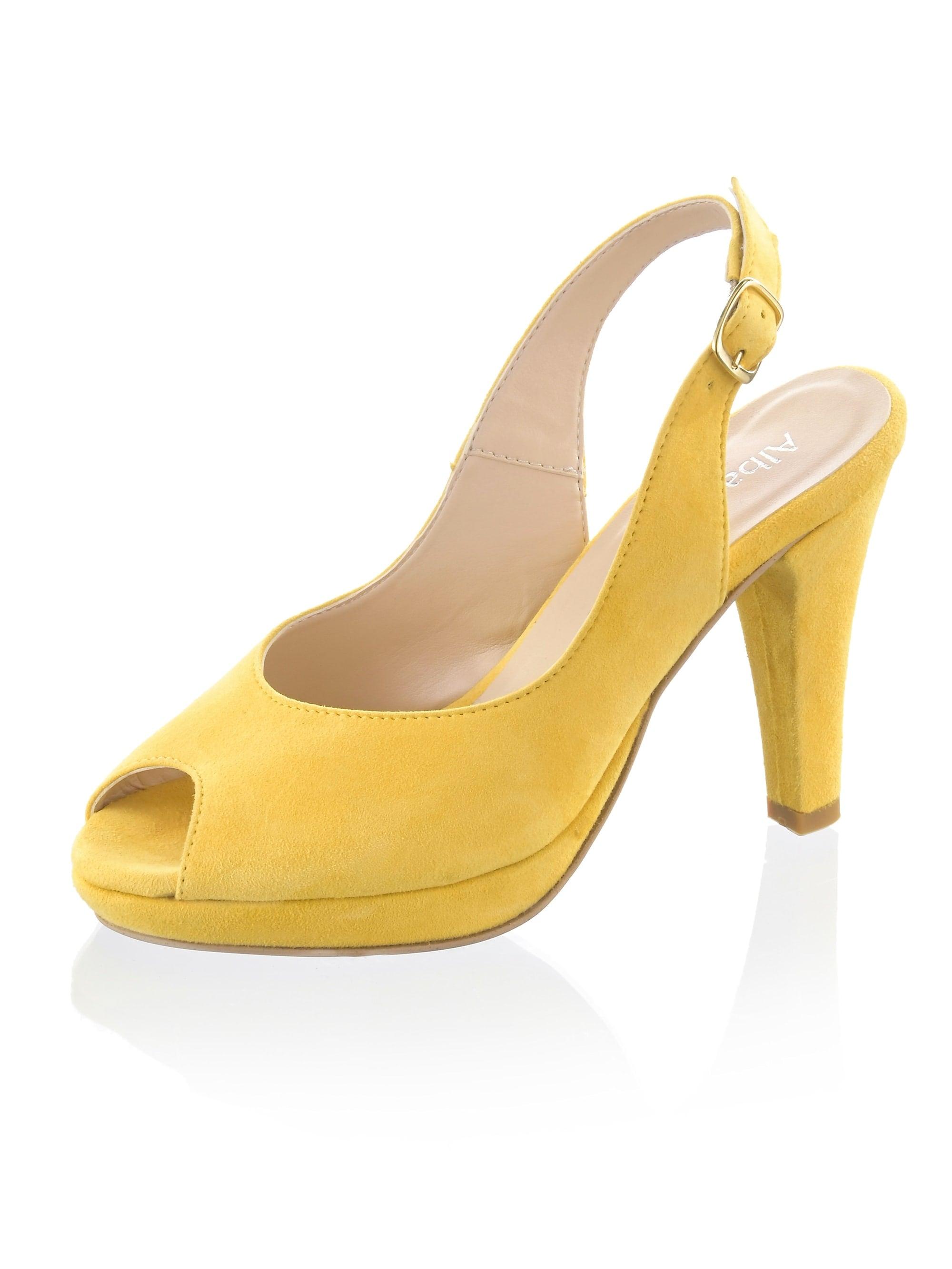 alba moda -  Sandalette aus Ziegenveloursleder