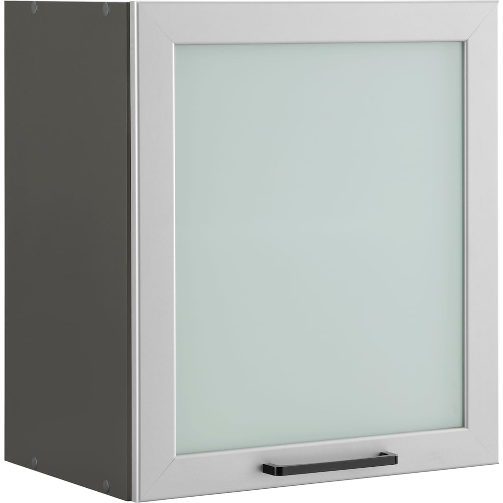 wiho Küchen Glashängeschrank »Esbo«, mit alufarbener Glasrahmentür