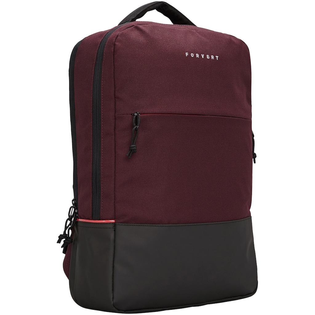 forvert Laptoprucksack »Lance, plum«