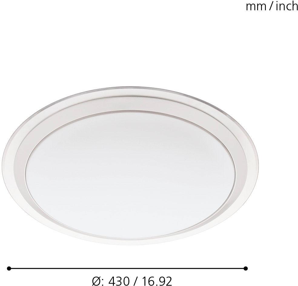 EGLO LED Deckenleuchte COMPETA-C, LED-Board, Neutralweiß-Tageslichtweiß-Warmweiß-Kaltweiß, EGLO CONNECT, Steuerung über APP + Fernbedienung, BLE, CCT, RGB