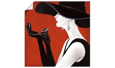 Artland Wandbild »Hut ab II«, Frau, (1 St.), in vielen Größen & Produktarten... kaufen