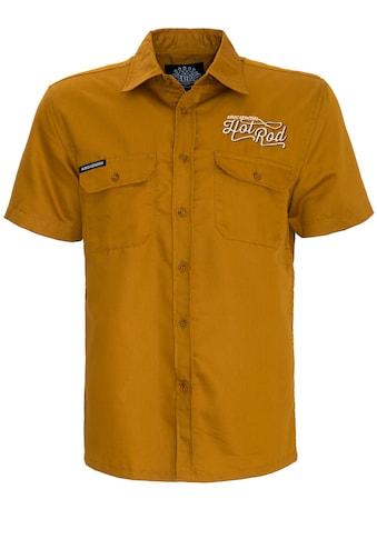 KingKerosin Kurzarmhemd »Hot Rot«, mit Hot Rod Stickerei vorne und hinten kaufen