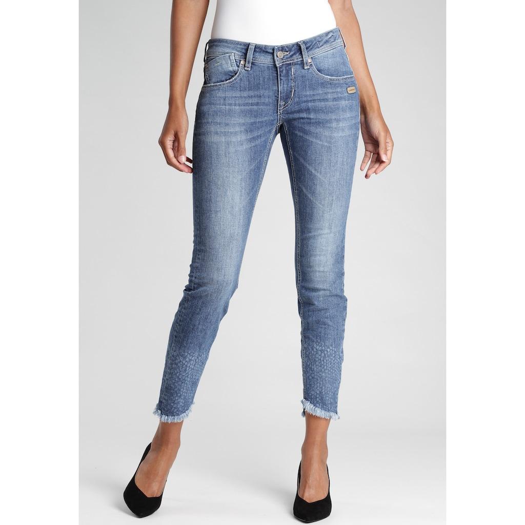 GANG Skinny-fit-Jeans »FAYE-GA«, mit ausgefranster Kante am Beinabschluss