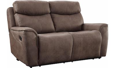Home affaire 2-Sitzer »Pius«, mit Relaxfunktion und Nieten an den Armlehnen, Federkern kaufen
