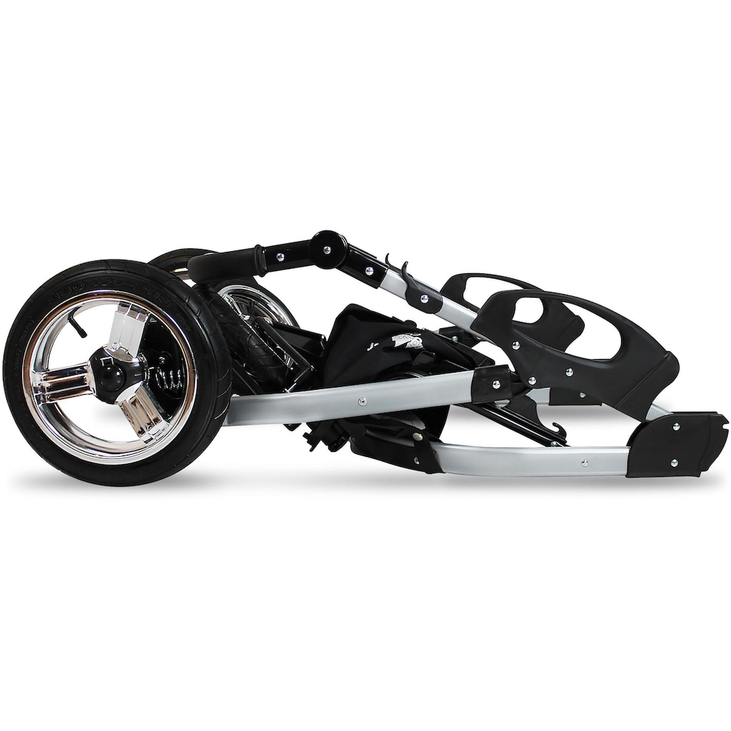 bergsteiger Kombi-Kinderwagen »Capri, black edition, 3in1«, 15 kg, Made in Europe; Kinderwagen
