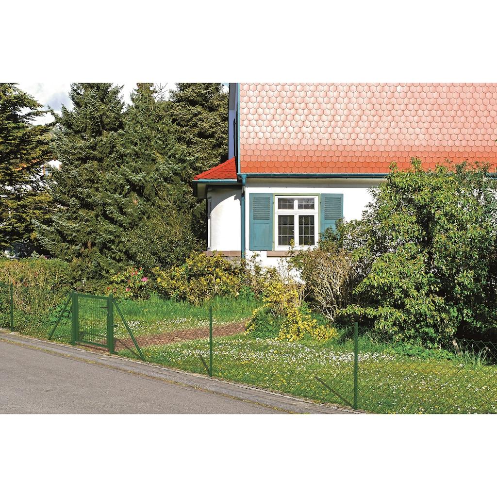 GAH Alberts Maschendrahtzaun, 80 cm hoch, 25 m, grün beschichtet, zum Einbetonieren