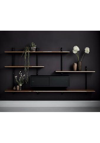 PBJ Wandregal »Less«, inklusive 1 Schrank mit Schiebentüren, Breite 220 cm kaufen