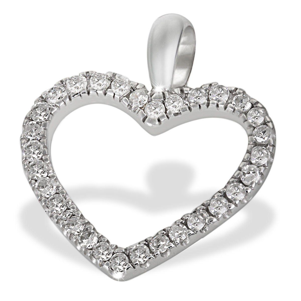 goldmaid Anhänger Herz 585/- Weißgold 30 Diamanten 0,16 ct. | Schmuck > Halsketten > Herzketten | Weiß | GOLDMAID