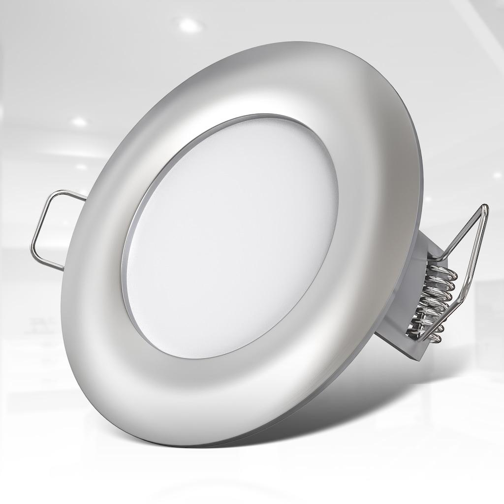 B.K.Licht LED Einbauleuchte, LED-Board, 5 St., Neutralweiß, LED Einbaustrahler ultra-flach 5x 5W LED Modul 460lm 4000K Spots Matt-Nickel Ø85mm IP44