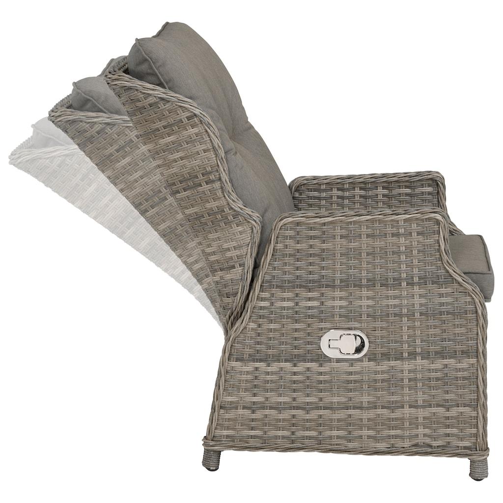 KONIFERA Relaxsessel »Premium«, Polyrattan, verstellbar, inkl. Auflage