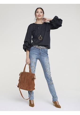Bauchweg - Jeans Aleria mit Stickerei kaufen