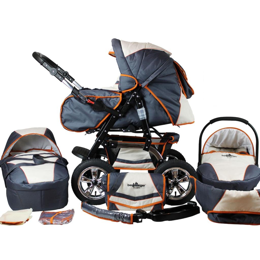 bergsteiger Kombi-Kinderwagen »Milano, beige & grey, 3in1«, 15 kg, Made in Europe; Kinderwagen
