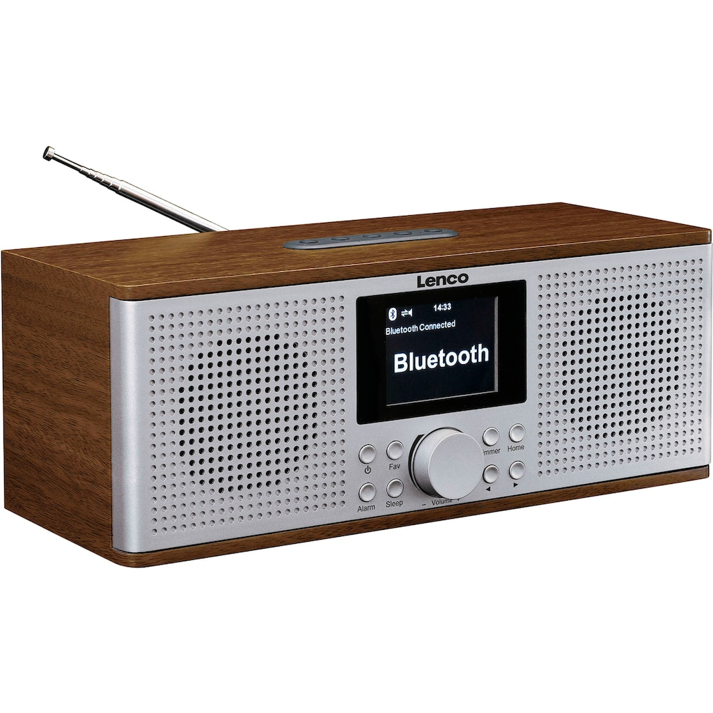 Lenco Internet-Radio »DIR-170WA«, (Bluetooth-WLAN UKW mit RDS-Digitalradio (DAB+)-Internetradio-FM-Tuner 20 W)