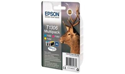 Epson Tintenpatrone »T1306 Original Kombi-Pack Cyan, Magenta, Gelb C13T13064012« kaufen