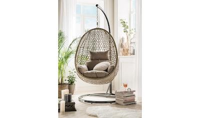 DESTINY Hängesessel »Cocoon De Luxe«, Polyrattan/Stahl, inkl. Sitz -  und Rückenkissen kaufen