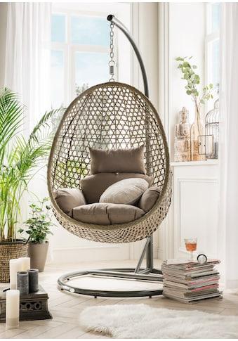 DESTINY Hängestuhl »Cocoon De Luxe«, Polyrattan/Stahl, inkl. Sitz -  und Rückenkissen kaufen