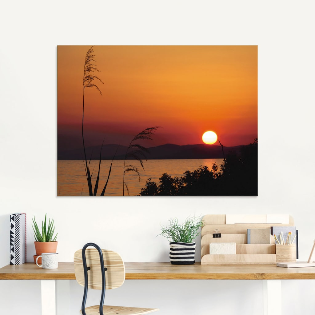 Artland Glasbild »Sonnenuntergang«, Sonnenaufgang & -untergang, (1 St.)