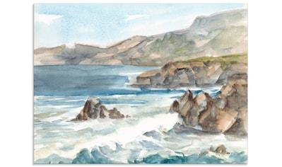 Artland Glasbild »Wasserfarben Küste II« kaufen