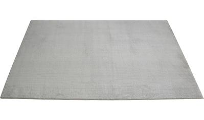 RESITAL The Voice of Carpet Teppich »Masal 4000«, rechteckig, 23 mm Höhe, gewebt, Uni-Farben, waschbar, ein echter Kuschelteppich, Wohnzimmer kaufen
