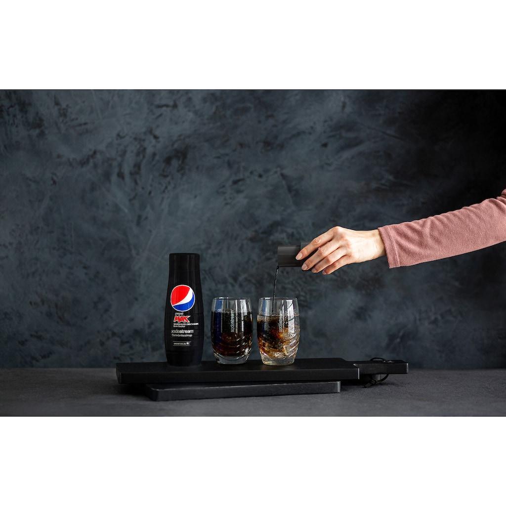 SodaStream Getränke-Sirup, Pepsi Max, (4 Flaschen), für bis zu 9 Liter Fertiggetränk