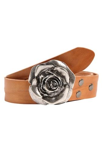 RETTUNGSRING by showroom 019° Ledergürtel, mit raffinierter Rosenschließe kaufen