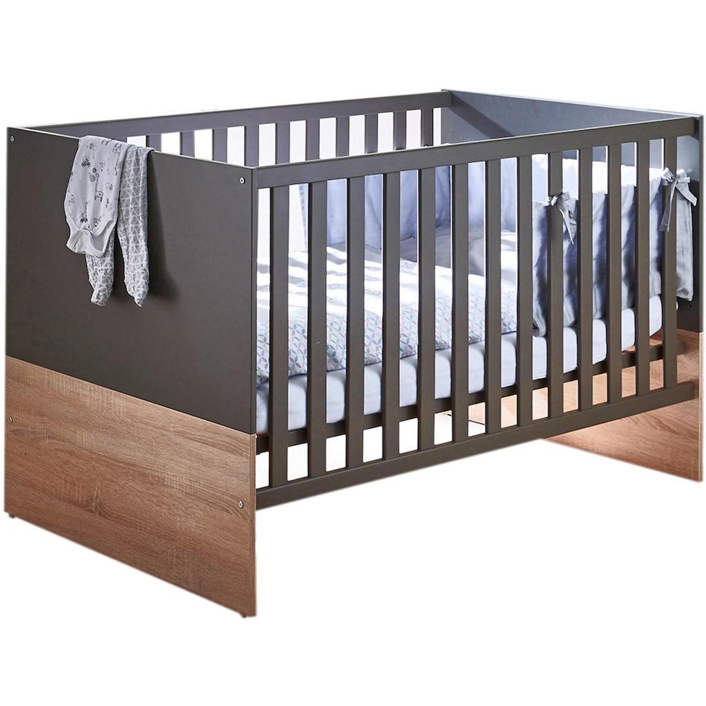 arthur berndt Babyzimmer-Komplettset »Cloe«, (Set, 3 St.), Made in Germany; mit Kinderbett, Schrank und Wickelkommode