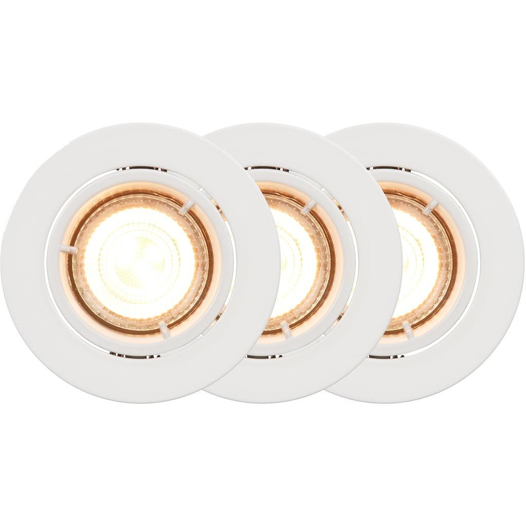 Nordlux Smarte LED-Leuchte »Carina Smartlight«, GU10, Farbwechsler, Smarte LED-Leuchte, Steuerung Helligkeit, Lichtfarbe, 5 Jahre Garantie auf LED, Set mit 3 Stück