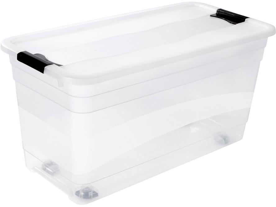 keeeper Aufbewahrungsbox konrad, mit Rollen, 83 Liter farblos Boxen Truhen, Kisten Körbe Schlafzimmer Aufbewahrungsboxen