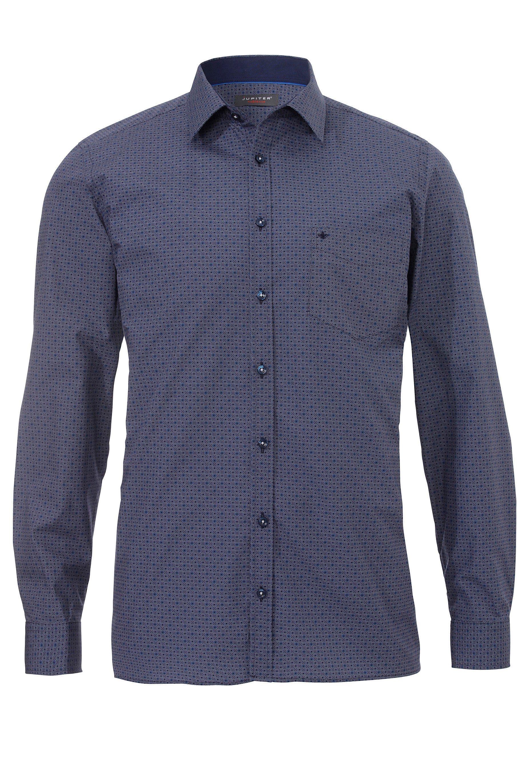 Jupiter Attraktives figurbetontes Langarmhemd   Bekleidung > Hemden > Sonstige Hemden   Blau   Jeans - Baumwolle   Jupiter