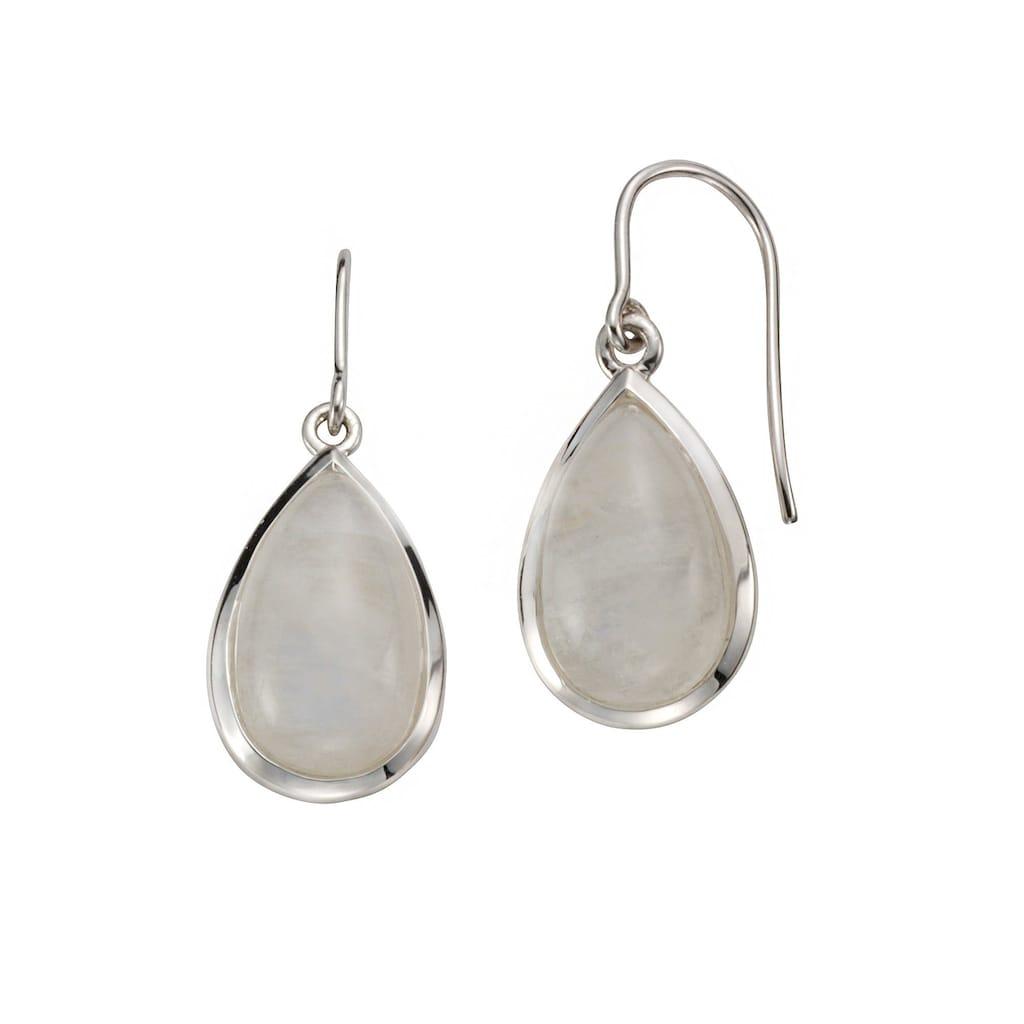 Jamelli Paar Ohrhänger »925/- Sterling Silber rhodiniert mit Rainbow-Monds«, Ohrhänger