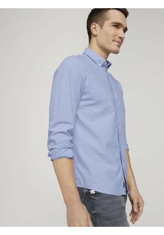 TOM TAILOR Langarmhemd »Hemd mit Bio-Baumwolle und Button-Down-Kragen« kaufen