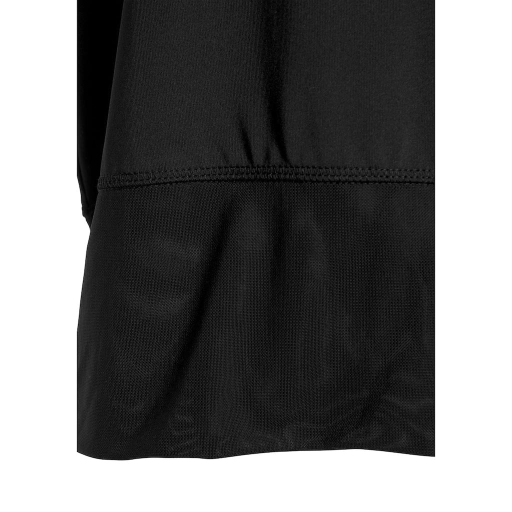 LASCANA ACTIVE Shirttop »Tropical«, mit breitem Rippeinsatz