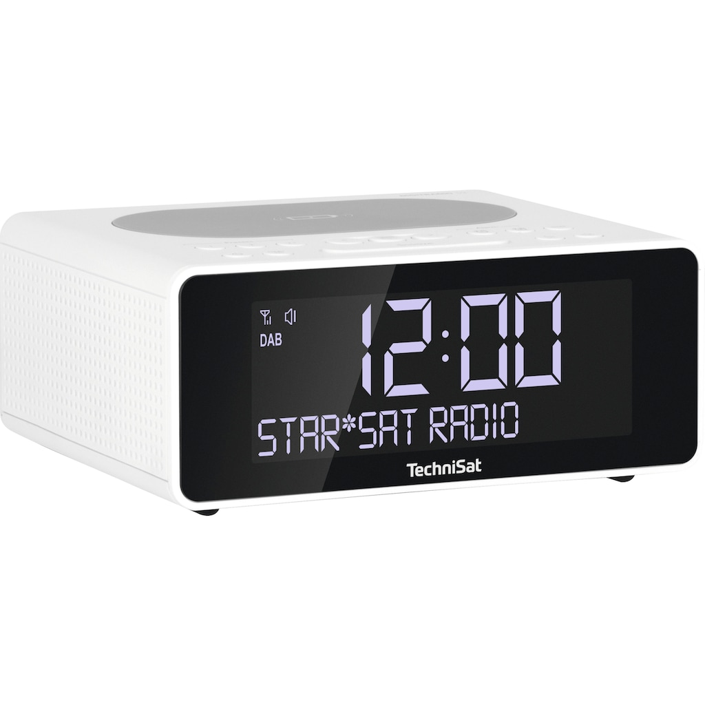TechniSat Radiowecker »DIGITRADIO 52 Stereo«, ( Digitalradio (DAB+)-UKW mit RDS ), mit DAB+, Snooze-Funktion, dimmbares Display, Sleeptimer, Wireless Charging