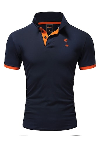 behype Poloshirt »PALM«, mit kontrastfarbigen Details kaufen